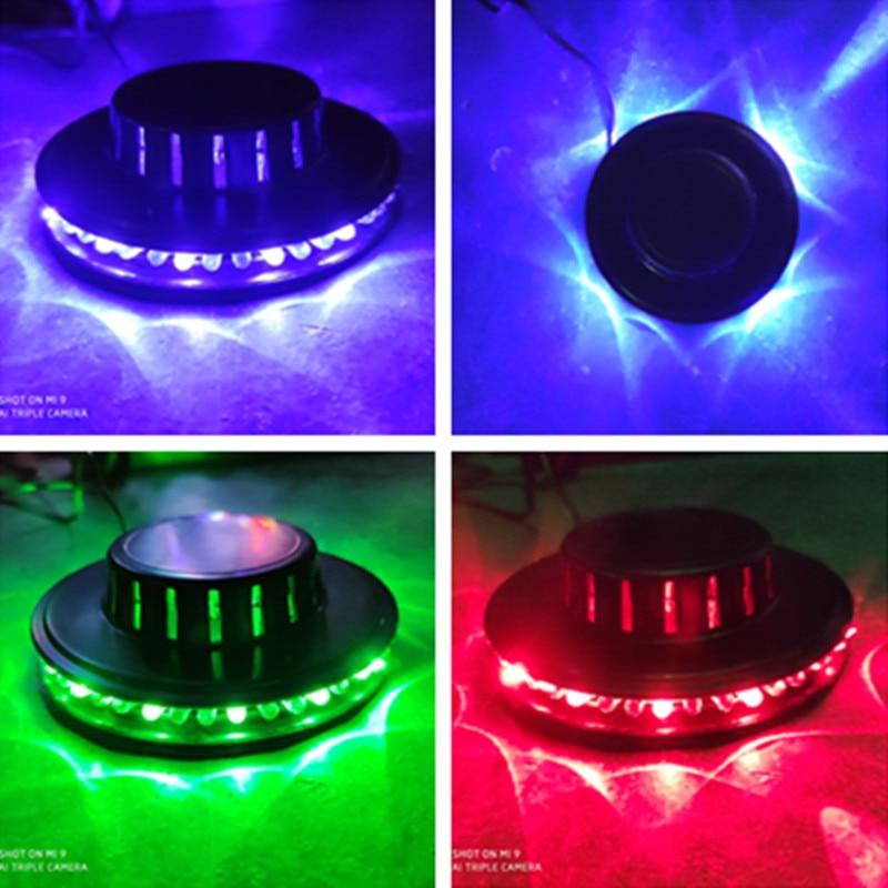 Mini 48 LEDs 8 W RGB Zonnebloem Laser Projector Verlichting Disco Stage Light Bar DJ Geluid Achtergrond Wandlamp Kerst Party Lam