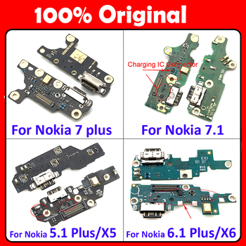 Original USB Charge Charging Port Dock Connector Mic Board Flex Cable For Nokia 6 7 plus 5.1 6.1 7.1 8.1 Plus X5 X6 X7 USB Board x7 plus