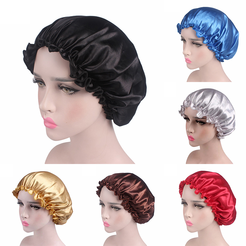Стильный головной убор для волос, тканевый головной убор для волос с атласной подкладкой, шапка для сна, ночная шапочка, шелковая шапочка дл...