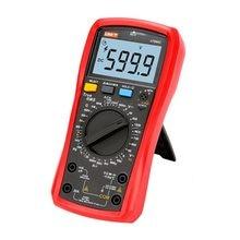 UNI-T multímetro digital verdadeiro rms tensão corrente ac dc ncv hfe amperímetro resistência diodo testador de temperatura ut890c ut890d +
