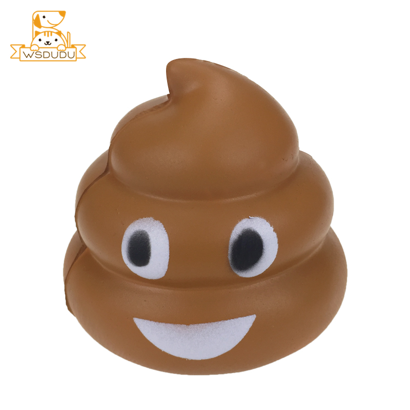 Smile Poop Cartoon Squishy Soft Toys Funny Face Expression Sticker Cute Squeeze Squishies Slow Rising Anti Stress Gift For Adult
