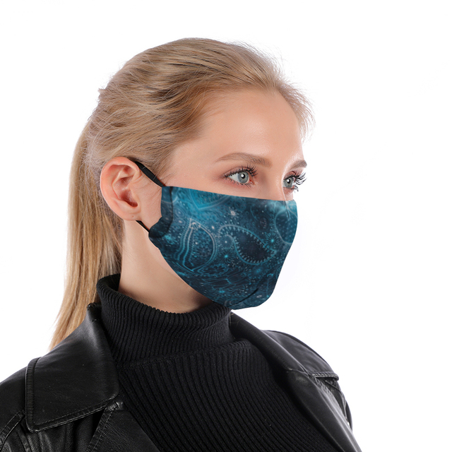 Bandana Reusable Mouth Mask Washable PM2.5 Filter Anti Dust Face Mask Windproof Mouth-muffle Bacteria Anti Flu Mask 1