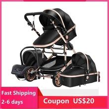Wózek dziecięcy 3 w 1 wózek spacerowy dla noworodka wózek wysokiego krajobrazu wózek dla dziecka wózek spacerowy dla dziecka 0-36 miesięcy tanie tanio Magic ZC CN (pochodzenie) 70 kg 0-6years old 3 in 1 baby stroller 0-3 years