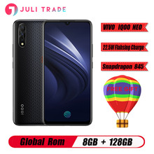 "VIVO IQOO Neo smartphone 6.38 ""AMOLED tam ekran 1080*2340 Snapdragon 845 Octa çekirdek 4500mAh Smartphone 22.5W yanıp sönen şarj"
