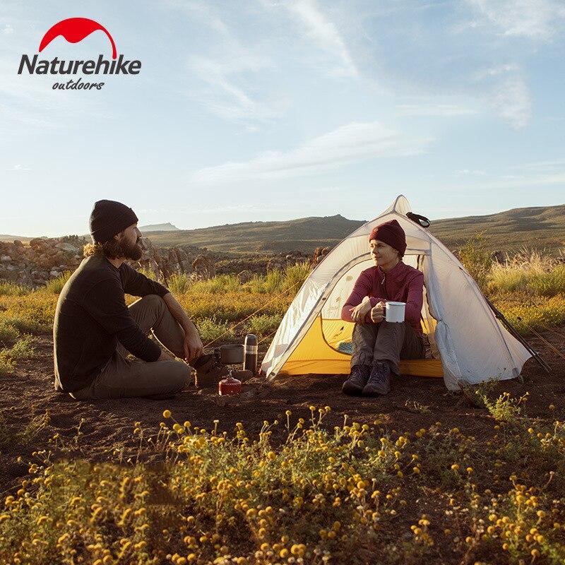 Naturehike Cloud UP 2 Сверхлегкая палатка 10D нейлоновая силиконовая портативная Самостоятельная палатка с бесплатным ковриком для походов на открытом воздухе - 4