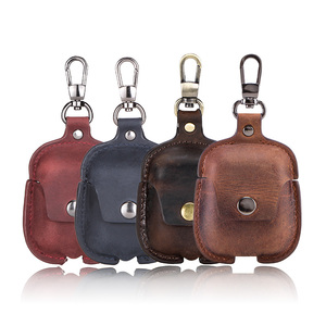 Image 5 - Leather Airpods Case For Apple Airpods Bluetooth Earphone Charging Box Accessories Bag Key Strap with Buttons Headphone Cover