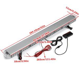 """Image 5 - 41 """"210W LED 12V 24V kamyon araba çakarlı lamba ışıklı çubuk Led Bar yanıp sönen işaret ışığı ışık çatı acil durum uyarı lambaları 21 modları"""