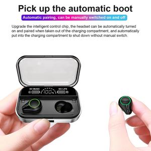 Image 2 - T10 Tws Earphones Wireless Headphone Bluetooth 5.0 Sport Touch Control Wireless Headsets Power Display Earbuds With Charging BOX