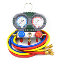 R22 R134a R404A R407c Manifold Gauge Set With Hose For Household Automobile A/C Air Conditioning Tool HVAC
