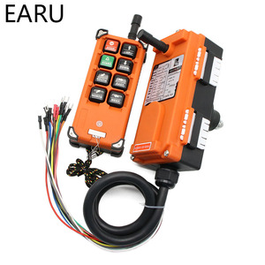 Image 2 - Interruptores de controle remoto industrial sem fio grua guindaste elevador controle 1 transmissor + 1 receptor F21 e1b 6 canais