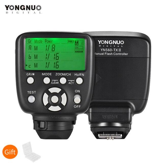 YONGNUO YN560 TX II اللاسلكية فلاش الزناد تحكم Trasmitter ل Yongnuo YN 560III YN560IV RF 602 RF 603 II لكانون نيكون