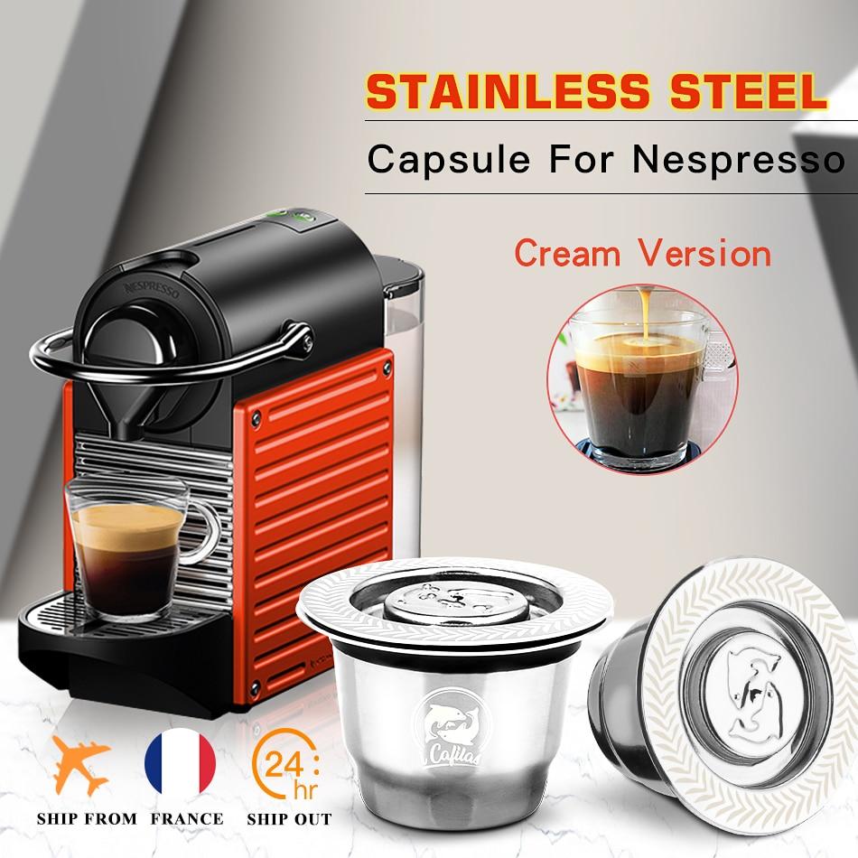 ICafilas لإعادة الملء كبسولة قهوة نسبرسو كريما اسبريسو قابلة لإعادة الاستخدام الجديدة القابلة لإعادة الملء لتصفية القهوة|Coffee Filters| - AliExpress