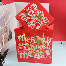 10PCS Merry Christmas Santa Cookie Package Red Elk Gift Box Chocolate Candy Bag Xmas Party Decor Gifts For Decorations