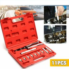 11 pcs Car Valve Oil Seal Disassembly Installation Valve Seal Remover Tool Kit with Plier Driving Socket Adapter Valve Remover