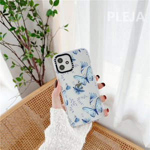 Image 3 - Cute Butterfly Printed Phone Case For iphone 12 mini 11 Pro Max Cartoon Silicone Cover For iphone XS Max SE 2020 XR X X 8 7 plus