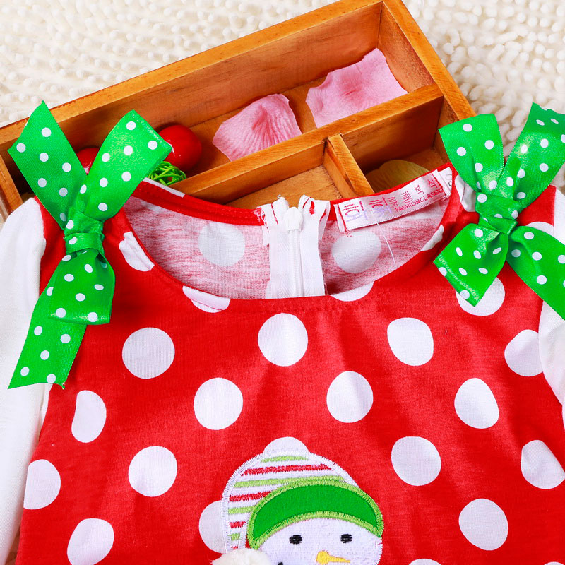 H93096b0f7f98441b81f5b44433fd426b3 2-6T Santa Claus Christmas Dress Kids Party New Year Costume Winter Snowman Baby Girl Clothes Christmas Tree Children Clothing