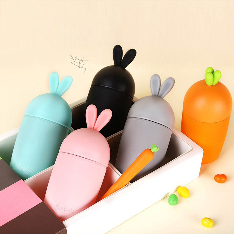 Portable Creative Little Rabbit Carrot Glass Cute Cartoon Heat-Resistant Practical Water Bottles Ladies Student Gift Decoration
