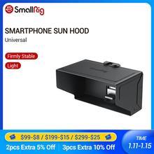 SmallRig Smartphone Sonne Haube (Große) für Smartphones Von 72mm zu 78mm Für Iphone/Sumsung Handys Screen Sonnenschutzes 2500