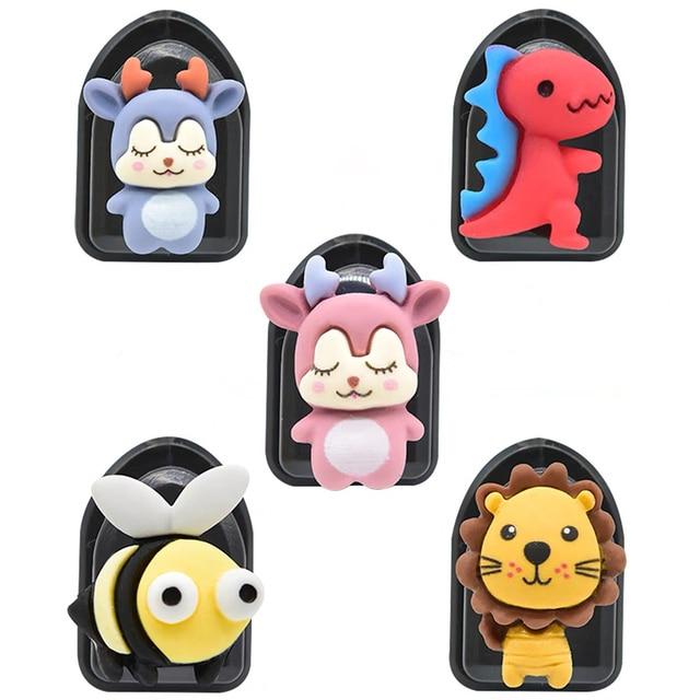 5Pcs חמוד Cartoon רכב ווי דבק פלסטיק רכב וו מארגני רכב מושב אחורי ווים עבור טעינת כבלי מפתחות ארנקים תיקים