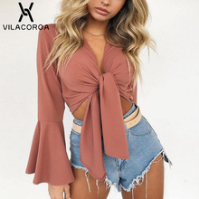 Solid Color T shirt Women Long Sleeve To