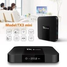 فونتار TX3 ميني مربع التلفزيون الذكية أندرويد 8.1 2GB 16GB Amlogic S905W رباعية النواة مجموعة صندوق علوي H.265 4K واي فاي مشغل الوسائط TX3mini 1GB 8GB