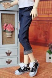 BJD puppe kleidung ist geeignet für 1/3 1/4 größe gerade rohr dünne shorts mit flansch 7 cent jeans puppe zubehör