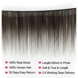 Image 2 - VSHOW Peruvian Straight Hair Bundles 4 Bundle Deals Remy Hair Weave Bundles 100% Human Hair Extensions 10 26 inches