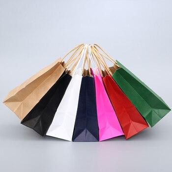 10 שקיות נייר בשלל צבעים