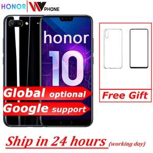 Image 1 - Version mondiale Honor 10 19:9 plein écran 5.84 pouces AI caméra Octa Core empreinte digitale ID NFC android 8.1