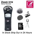 Цифровой диктофон Zoom H1N, портативный микрофон для интервью с SD-картой Kingston 16 Гб