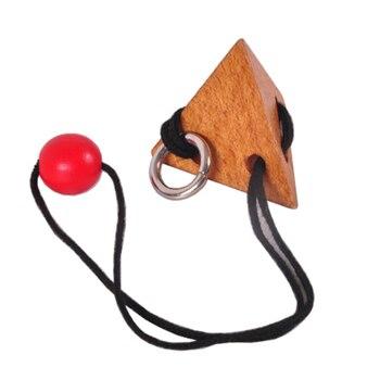 Cuerda caliente rompecabezas de madera lógica inteligente cerebro Teaser cuerda rompecabezas juego para adultos niños