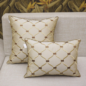 Роскошные чехлы на подушки с вышивкой Подушка Чехол дома декоративные Европейский диван-кровать автомобиль диванные подушки, синего и кори...