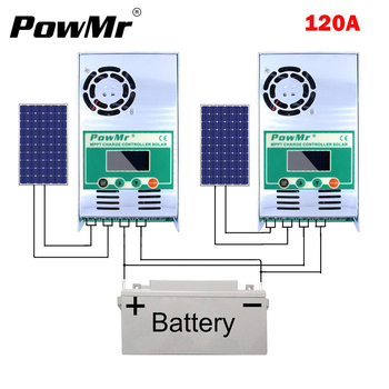 MPPT 120A 60A Solar Battery Charge Controller 12V-48V Auto Solar Charger Regulator LCD Display for Max 150VDC PV Input NEW 20a tracer2210an max pv input 100v mppt controller with mt50 remote meter usb and temperature sensor