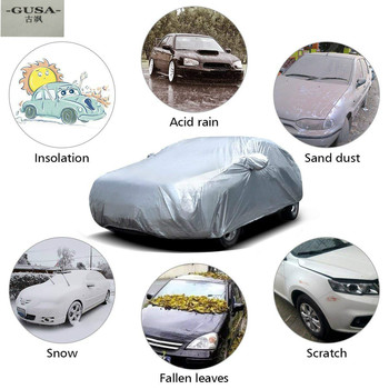 Cubierta de coche al aire libre Buildreamen2 impermeable sol lluvia nieve cubierta resistente para Mitsubishi Colt Mirage Lancer Sigma Galant ASX exposición