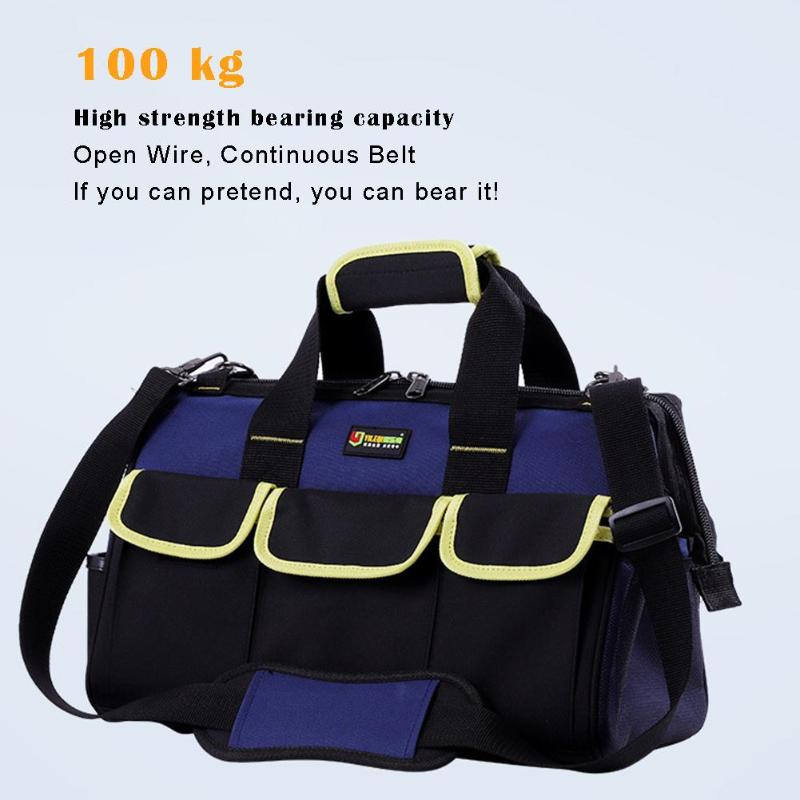Waterproof Oxford Cloth Handbag Storage Hammer Pouch Tool Bag Large Capacity Shoulder Bag Alloy Hanging Ring Electrician Toolkit