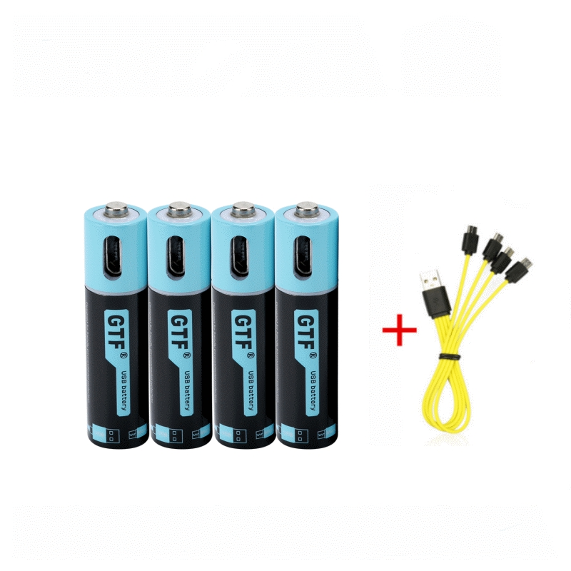 GTF 100% Capacity USB Rechargeable Battery AAA  Battery 450mAh 1.5V 675mwh  Remote Control Toys Batteries