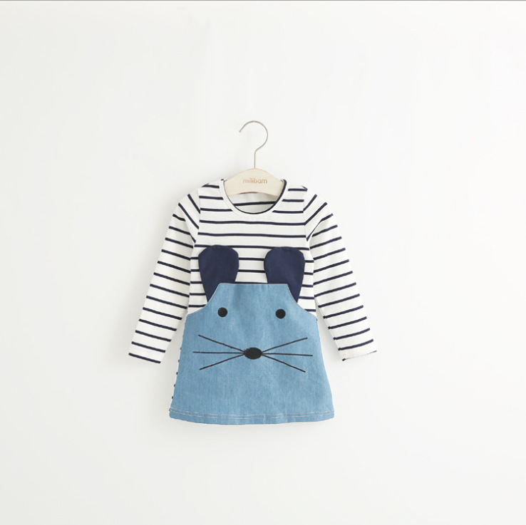 Autumn Girls Dresses Cute Animal Long Sleeve Baby Clothing Party Toddler Dress Kids Infant Clothes Clothes For Children Costume in Dresses from Mother Kids