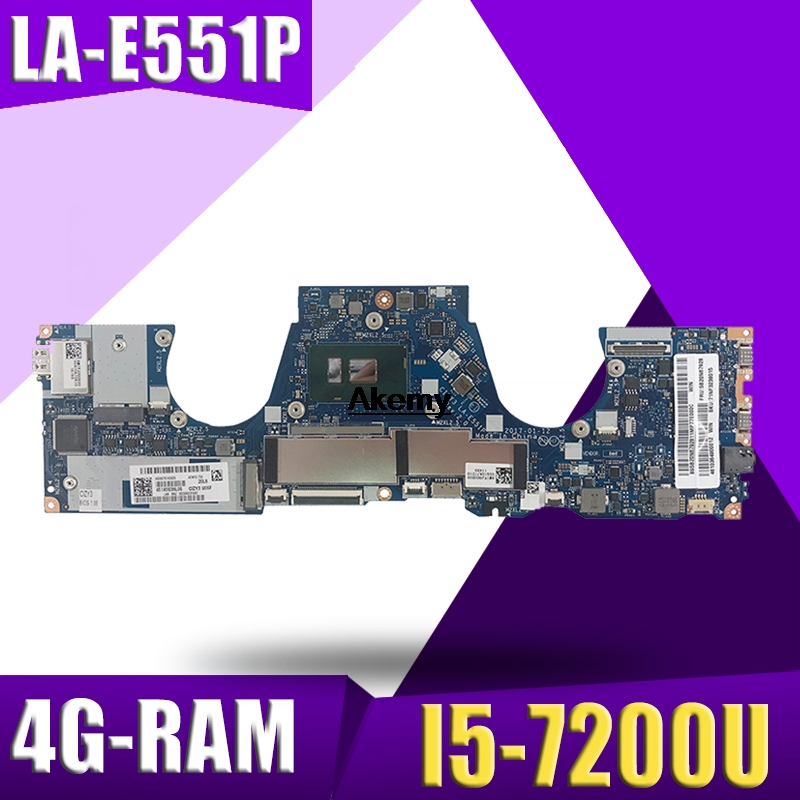CIZY3 LA-E551P Laptop Motherboard For Lenovo YOGA 720-13IBK Test Original Mainboard 4G-RAM I5-7200U