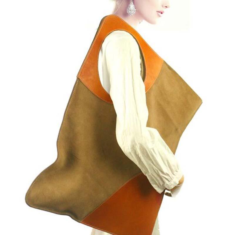 Fashion Genuine Leather Woman Shoulder Bags Handbags Women Irregular Bag Tote Special Design Bag High Quality Women Mujer Bolsas