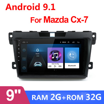 9 Android 9.1 Car GPS Navigation Radio 2 DIN Multimedia Player For 2008 2009 2010 2011-2014 2015 MAZDA CX-7 cx7 cx 7 2G 32G image
