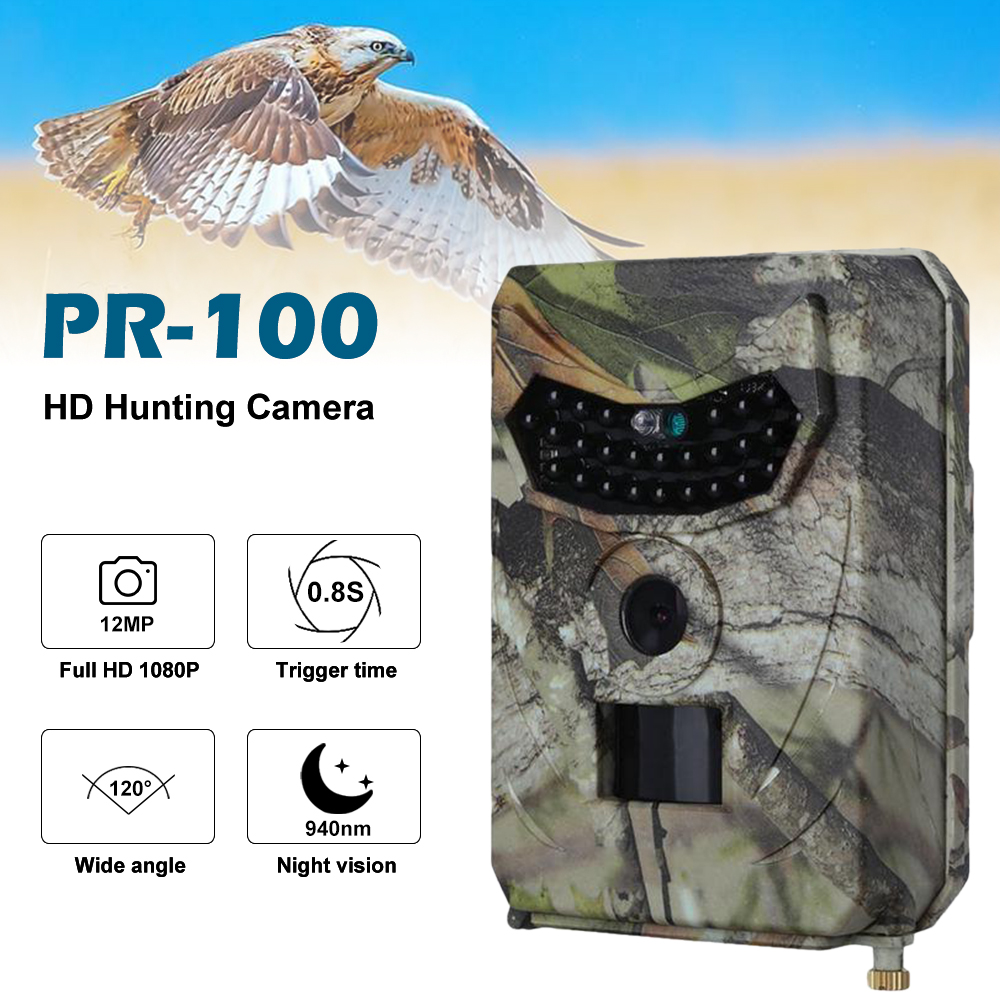 Basic Trail Hunting Camera Outlife PR-100 12MP 1080P Waterproof Wildlife Outdoor Night Vision 120 Degree Angle Wild Camera