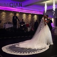 3 Meters Voile Mariage Mantilla Vail Velos De Novia Bridal Long Lace Cathedral Wedding Veil