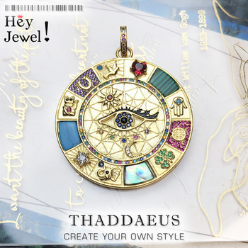 Pendant Amulet Magical Lucky Symbols,2020 Summer Golden Jewelry Vintage Pure 925 Sterling Silver Powerful Gift For  Women Men