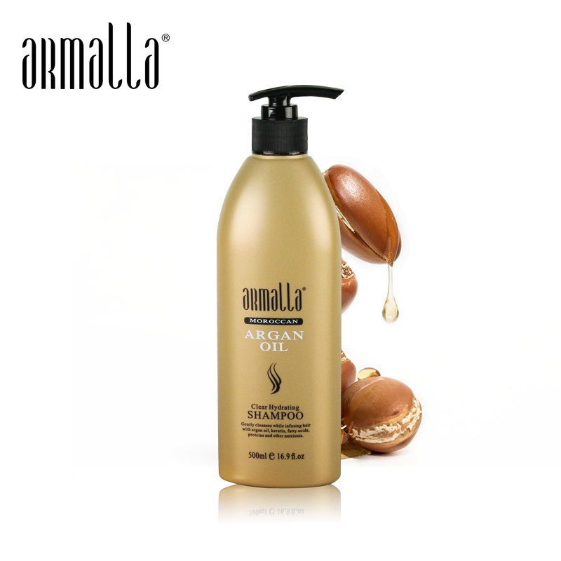 Argan Oil Best Selling 500ml Armalla Moroccan Professional Natural Dry Shampoo Moisturizing Damaged Hair Care Products image