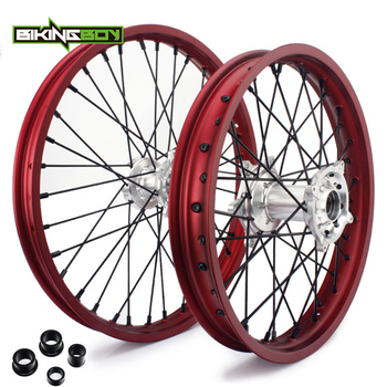 BIKINGBOY 21/19/18 Front Rear Wheels Rims Hubs For Honda CRF 250 R 2014-2019 CRF 450 R 2013 14 15 16 17 18 2019 CRF 450 RX 17-19