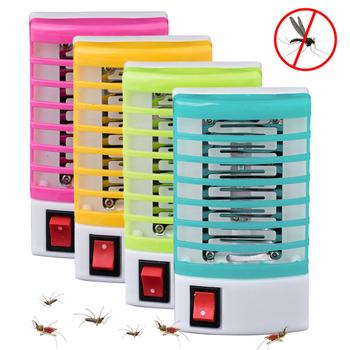 220V Home praktyczne gniazdo LED elektryczny środek odstraszający komary muchy robaki do zabijania owadów pułapka lampka nocna Zapper odstraszacz gryzoni tanie i dobre opinie oobest CN (pochodzenie) Z certyfikatem VDE 12 * 6 5 * 3cm EU plug US plug