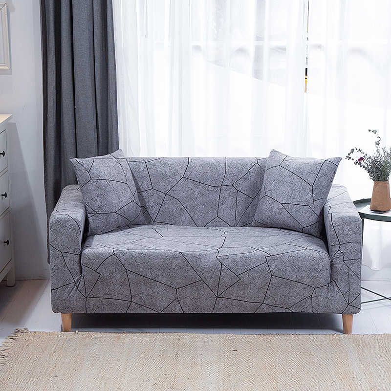 Stretch Sofa Cover untuk Ruang Tamu Ketat Wrap All-Inclusive Sectional Elastis Kursi Sofa Penutup Sofa Slipcovers