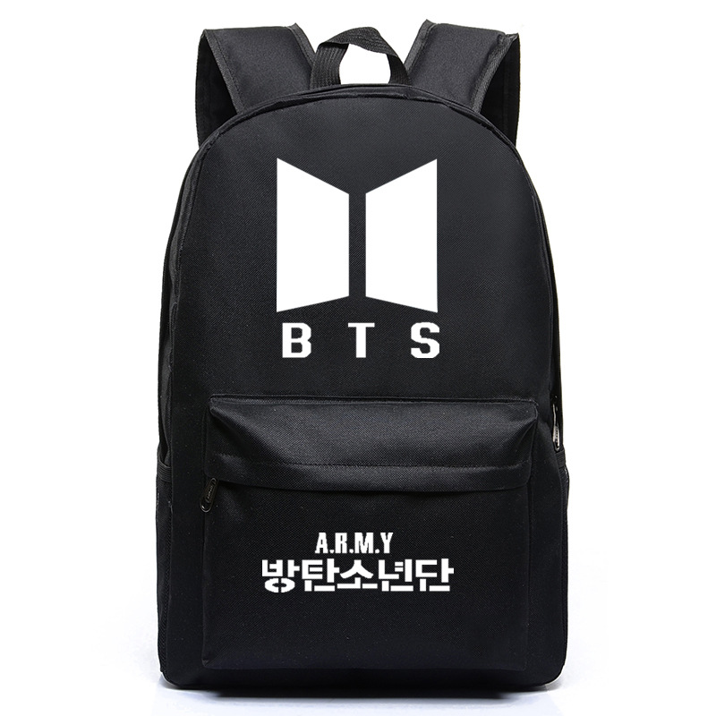 BTS Backpack BTS Celebrity Inspired Backpack Cute USB Charging Related School Bag Cross-Border Special