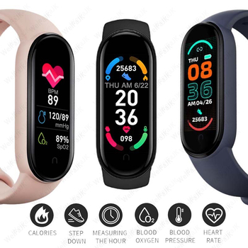 2021 M6 Smart Band Watches Women Men's Watch Blood Pressure Monitor Sports Fitness Bracelet Smartwatch For Apple Xiaomi Android 2
