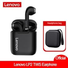 Original Lenovo LP2 TWS Wireless Earphones Bluetooth 5.0 Headset Dual Stereo Bass Touch Control VS Lenovo  QT81 ACC Sound